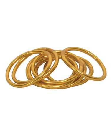 All Weather Gold Christian Prayer Bangles
