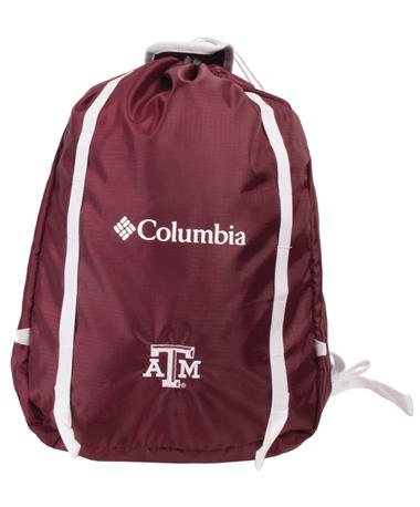 Columbia Silver Falls Cinch Pack - Front Deep Maroon