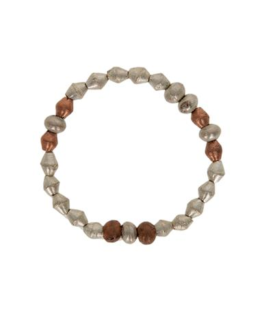 Adera Ammo Bead Bracelet Brass/Silver/Gold