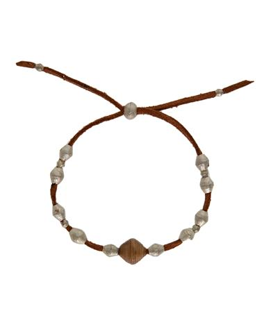 Adera Leather Ammo Bead Bracelet