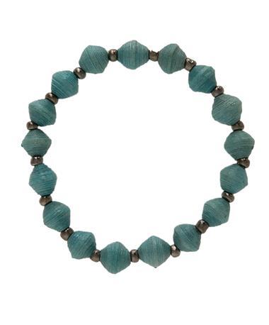 Adera Paper Mini Bead Bracelet Blue