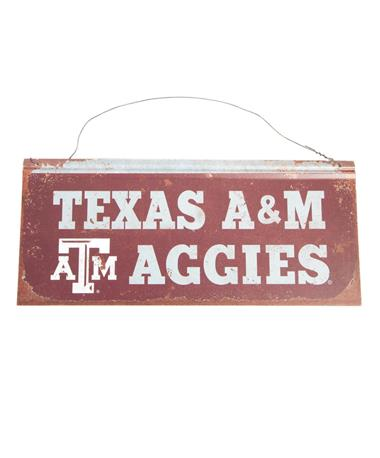Texas A&M Small Tin Sign Maroon Maroon