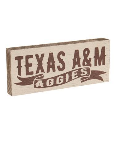 Texas A&M Aggies Mini Table Top Sign White/Maroon