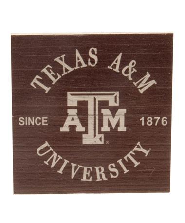 Texas A&M Wood Plank Magnet Maroon