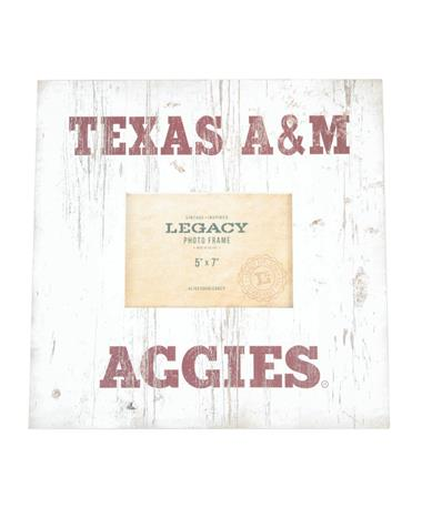 Texas A&M Aggies Wood Photo Frame White/Maroon