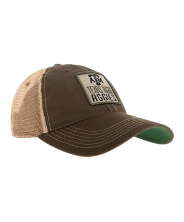 Texas A&M Aggies Olive Trucker Cap - Front Olive