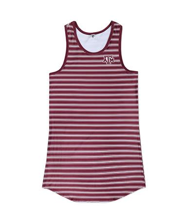 Texas A&M ZooZatz Yardline Tank Dress - Front Maroon/White