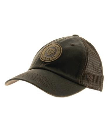Texas A M Walnut Adjustable Velcro Cap-side Brown