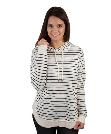 Striped Dakota Pullover-front White