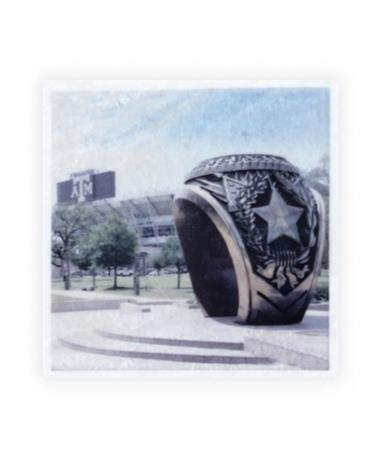 Aggie Ring Kyle Field Single Coaster Multi