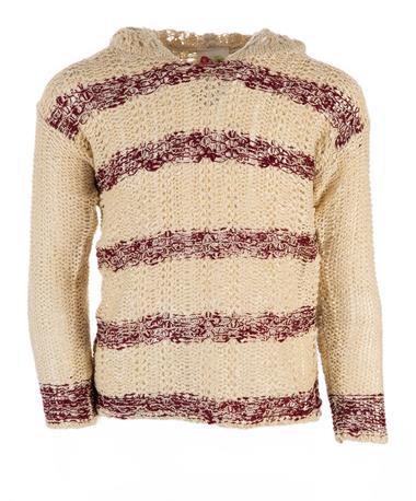 Hood Stripe Sweater Oatmeal Multi