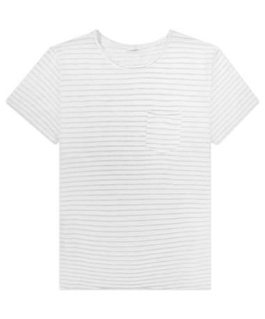 Oversize Striped Pocket Tee