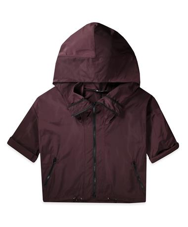 Maroon Kagool Coat - Front Bordo