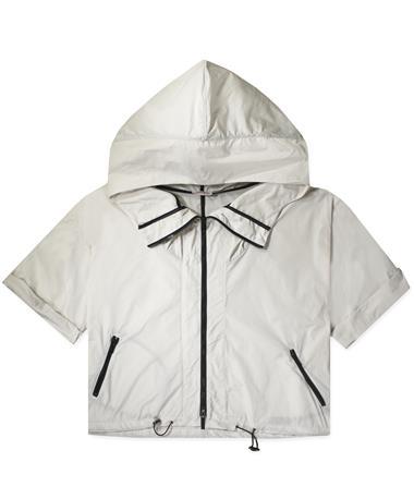 Creme Kagool Coat - Front Creme