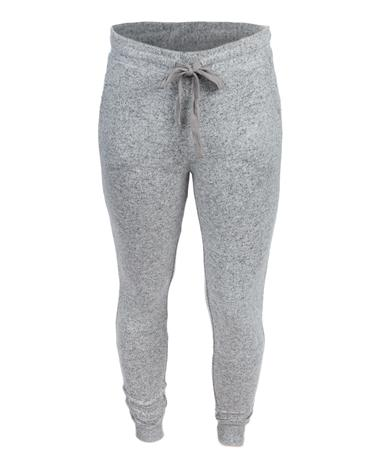 Heathered Grey Marled Joggers - Front Heathered Grey