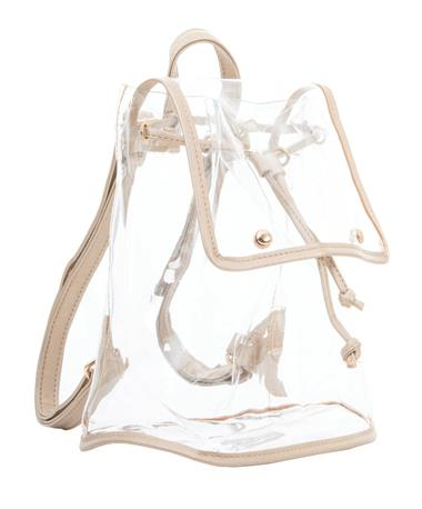 Clear Stadium Backpack Gold