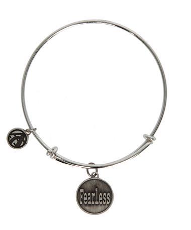 Jane Metz Fearless Joshua 1:9 Sterling Bracelet - Front Silver