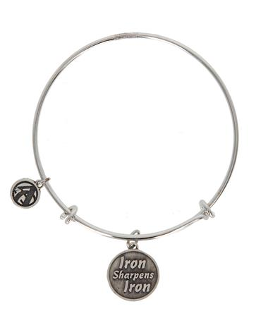 Jane Metz Iron Sharpens Iron Sterling Bracelet - Iron Sharpens Silver