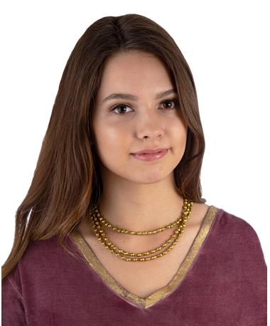 Adera Ammo Julies Triple Necklace Gold