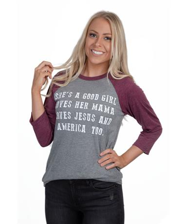 Charlie Southern Good Girl Raglan-front Grey