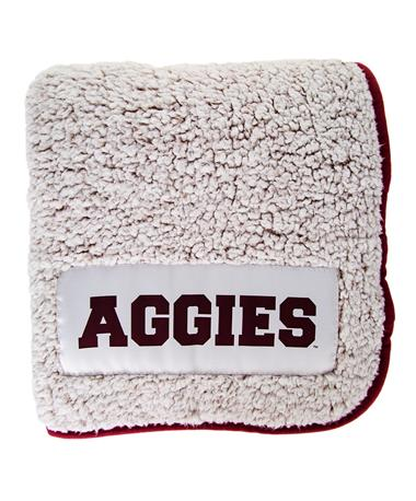 Texas A&M  Frosty Fleece Blanket White