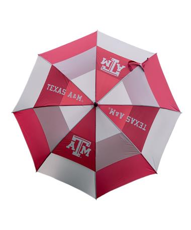 Texas A&M Team Golf Umbrella - Open Maroon/White