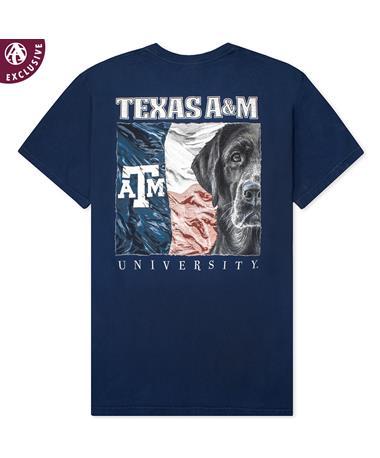 Texas A&M Keeping it Straight T-Shirt C1717 True Navy