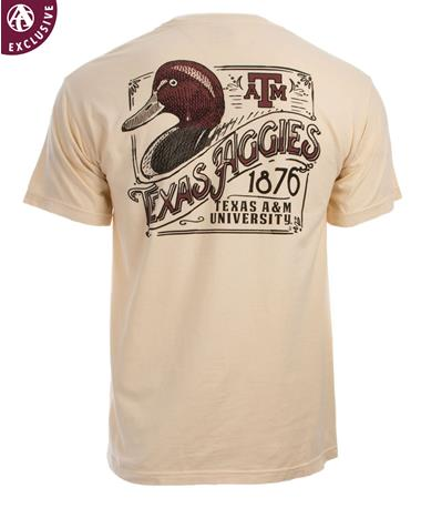 Texas A&M Aggie Duck S/S TShirt Cream