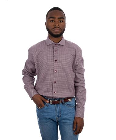 Full Spread Button Down Collar Shirt Maroon