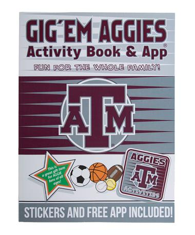 Texas A&M Gig `Em Aggies Activity Book - Front Maroon