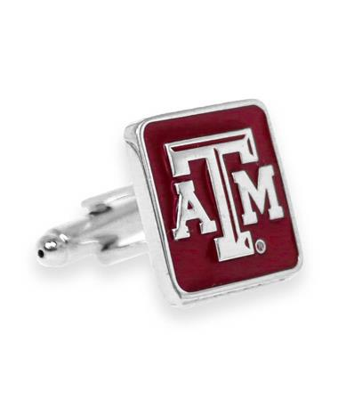 Texas A&M Maroon Beveled ATM Cuff Links