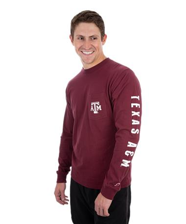 League Texas A&M Vintage Wash Long Sleeve Maroon
