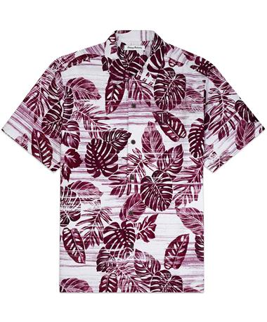 Texas A&M Tommy Bahama Sport Super Fan Camp Button Down - Front Maroon Berry