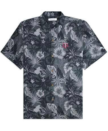 Texas A&M Tommy Bahama Fuego Button Down - Black - Front Black