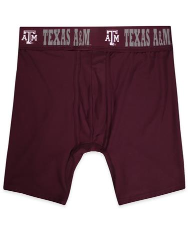 Texas A&M Men`s Fairway Boxer Briefs - Maroon - Front Maroon