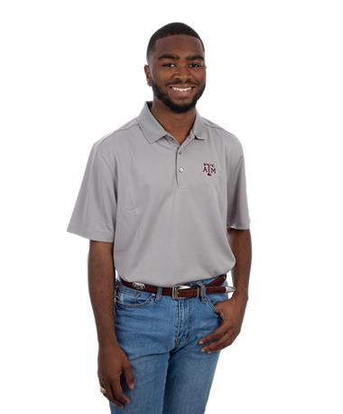 Cutter & Buck Texas A&M Men`s DryTec Polo Grey