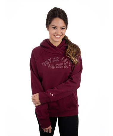 Texas A&M Aggies League Academy Hoodie - Front Maroon
