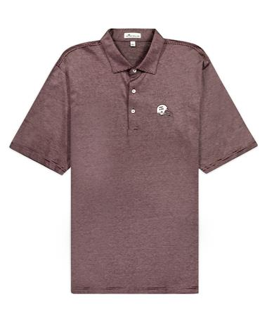 Texas A&M Peter Millar Helmet Scholar Stripe Polo