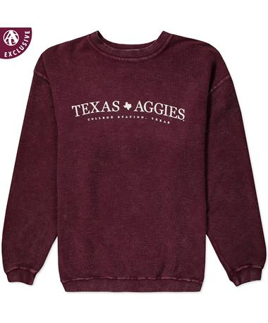 Texas A&M Simple Texas Aggies Corduroy Pullover