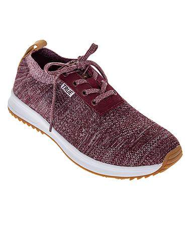 True Knit Maroon Golf Shoes - Angled Maroon