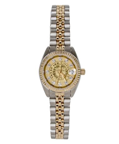 Belair Texas A&M Ladies Two Tone Diamond Watch Silver