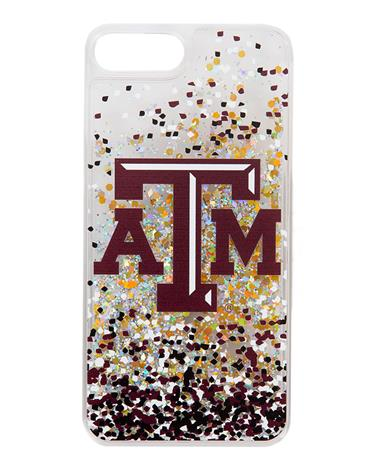 Texas A&M Confetti Glitter iPhone 7+/8+ Case