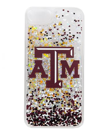 Texas A&M Confetti Glitter iPhone 7/8 Case Gold Glitter