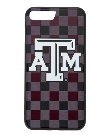 Texas A&M Plaid iPhone 7+/8+ Bump Case Maroon/Grey
