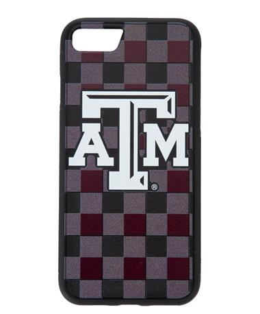 Texas A&M Plaid iPhone 7/8 Bump Case Maroon/Grey