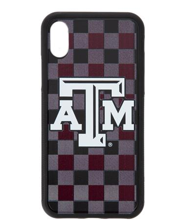 Texas A&M Plaid iPhone X/XS Bump Case Maroon/Grey