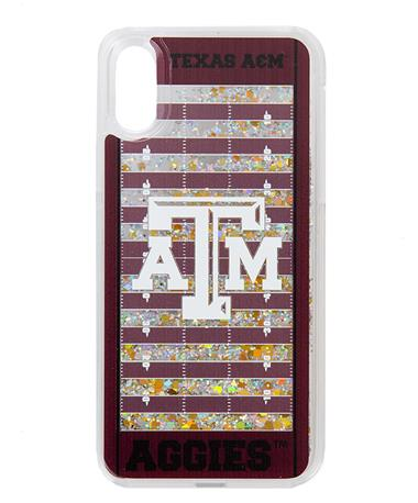 Texas A&M Football Field Glitter iPhone X/XS Case