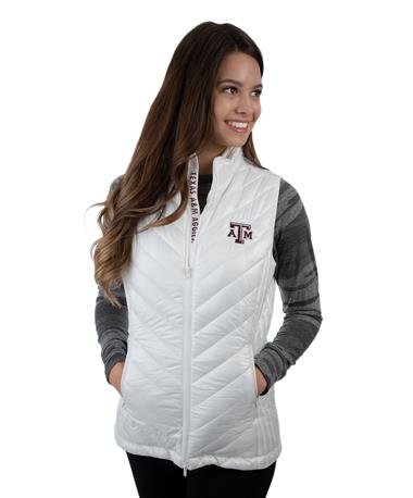 Levelwear Texas A&M Ladies Sphere Vest White