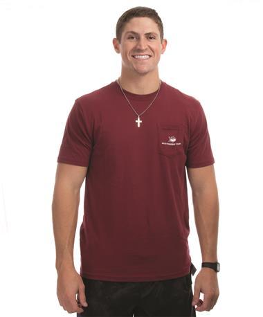 Southern Tide Texas A&M Skipjack Fill T-Shirt - Front CHIANTI