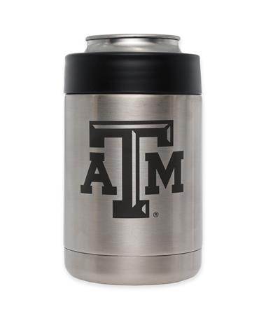 Texas A&M Yeti Rambler Colster - Front Silver